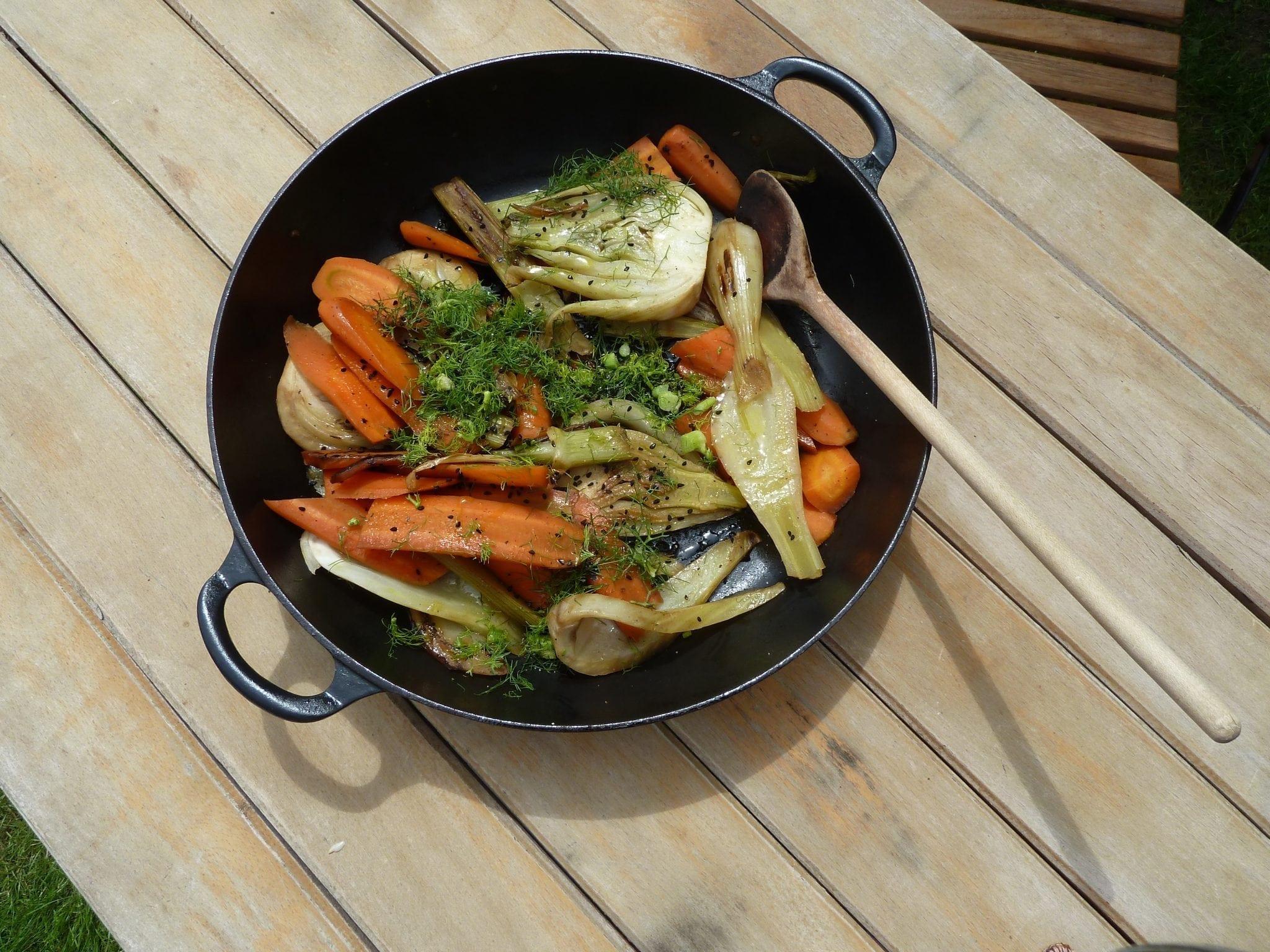 Gemüsepfanne - ein tolles Rezept für basische Ernährung